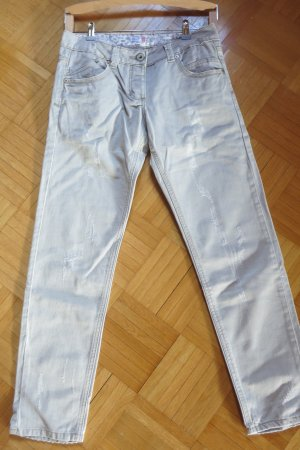 NKD Pantalone cinque tasche grigio chiaro-marrone-grigio Cotone
