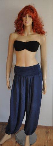 Pantalon taille basse bleu foncé-noir tissu mixte