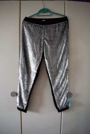 Conleys Pantalone jersey nero-argento