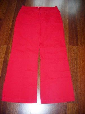 Esprit Pantalone a zampa d'elefante rosso mattone