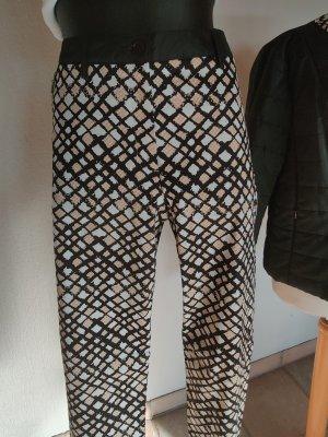 Creation L. Pantalon strech noir-blanc cassé