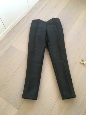 Alberta Ferretti Spodnie biodrówki czarny Tkanina z mieszanych włókien