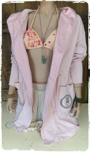Chaqueta holgada rosa Algodón