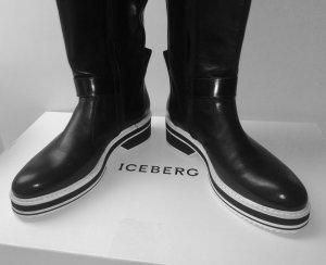 tolle Iceberg Lederstiefel, schwarz, ungetragen, original Karton Gr. 37