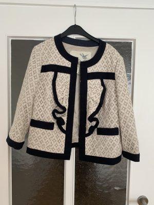 Blazer Tweed negro-crema