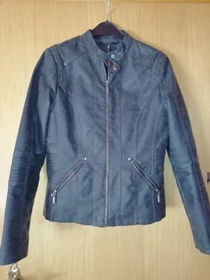 Jean Pascale Faux Leather Jacket grey mixture fibre