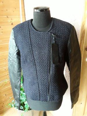Tolle Jacke mit Wolle und Leder