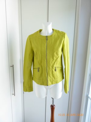 bpc selection Leather Jacket yellow-meadow green leather