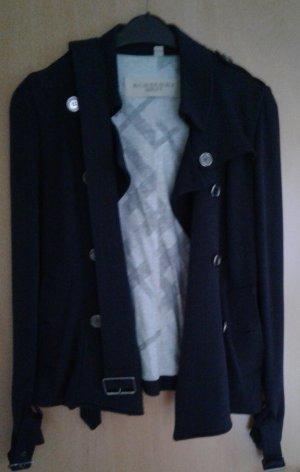 Burberry Brit Between-Seasons Jacket dark blue-dark brown cotton