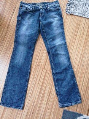 Mogul Jeans vita bassa blu