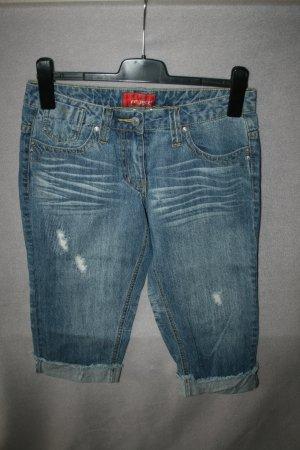 Reject 3/4-jeans lichtblauw Katoen