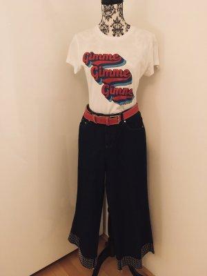 RED Valentino Falda pantalón de pernera ancha azul Algodón