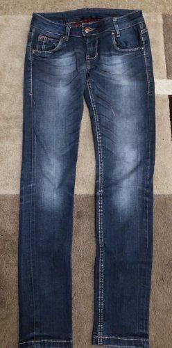 0039 Italy Jeans taille basse bleu foncé