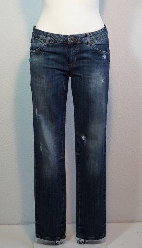 Sisley Jeans vita bassa blu scuro