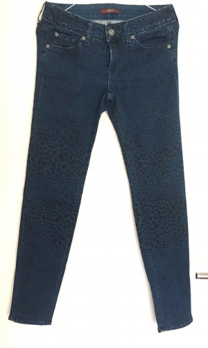 7 For All Mankind Skinny Jeans dark blue-black