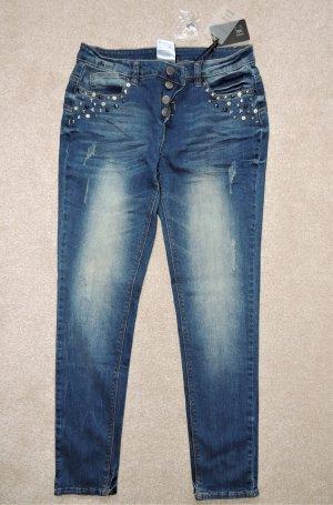 Tolle Jeans mit Nieten von B.C. Größe 36