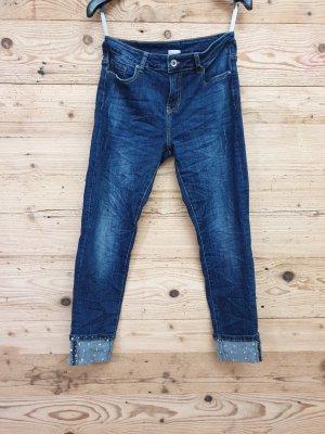 Stretch jeans donkerblauw