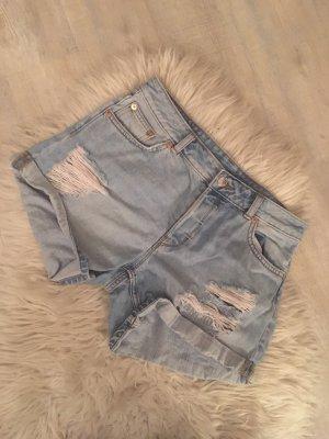 Monki Short en jean bleu azur