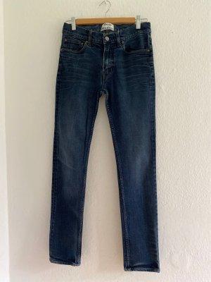Acne Studios Jeansy o obcisłym kroju niebieski-stalowy niebieski Bawełna