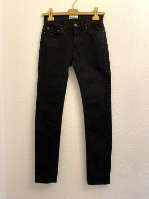 Acne Studios Jeansy o obcisłym kroju czarny Bawełna