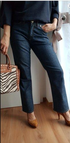 Escada Sport Jeans taille haute bleu acier coton