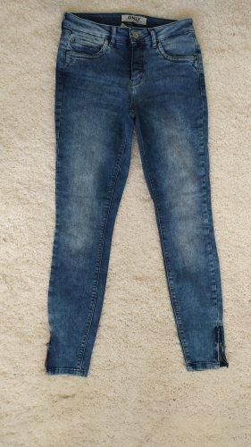 Only Pantalon cinq poches bleu clair-bleuet coton