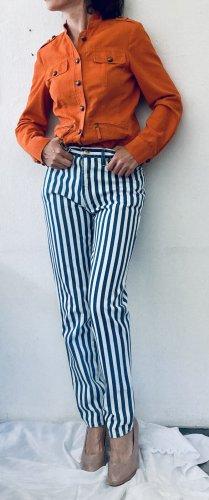 Rocco Barocco Jeansy o obcisłym kroju biały-niebieski
