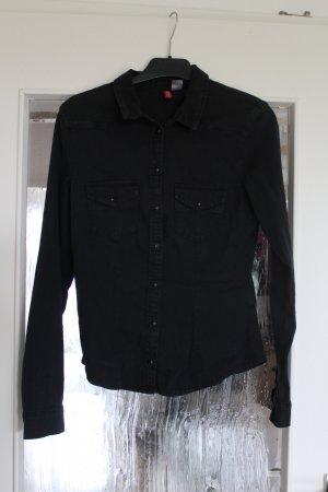 Tolle Jeansbluse in schwarz