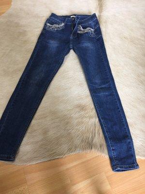 JEWELLY Jeans elasticizzati blu scuro