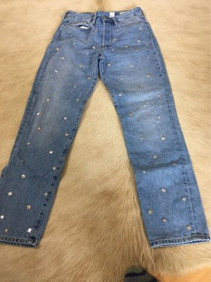 9886 DNM Vintage Wear Jeans a vita alta azzurro