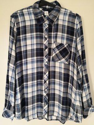 Gap Geruite blouse wit-donkerblauw