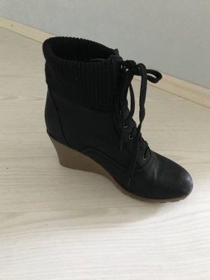 Jumex Wedge Booties beige-black