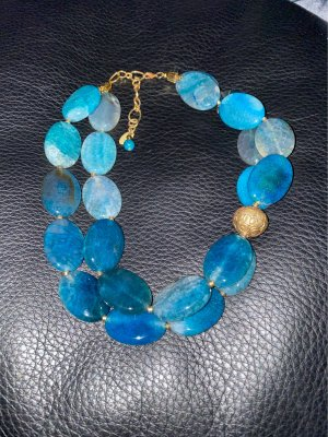 100% Fashion Collier incrusté de pierres multicolore