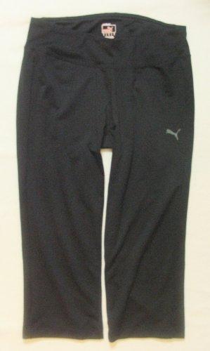 Tolle, klassische Stretch-Sporthose 3/4,Capri/Tights von PUMA..Laufhose..schwarz..Größe DE 38/40