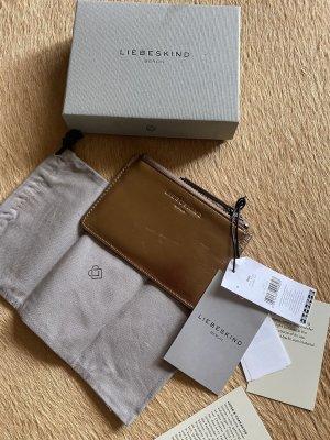 Tolle kleine  Liebeskind Geldbörse Börse gold Neu mit Etikett & Box Np 69€