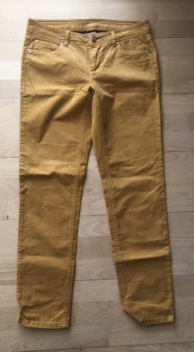 Street One Pantalon en velours côtelé jaune foncé-orange doré coton