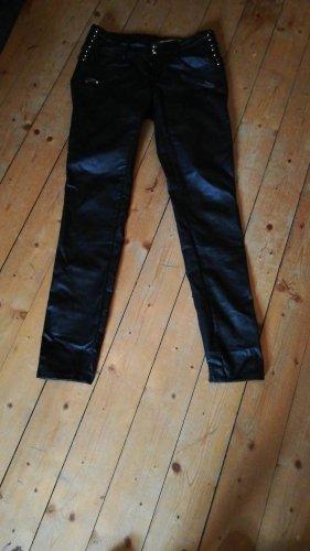 Tolle  Hose schwarz Biker Gr. M 38 Slim Fit