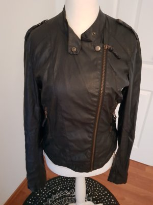 Colours of the World Faux Leather Jacket black