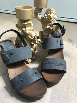 Replay Clog Sandals anthracite leather