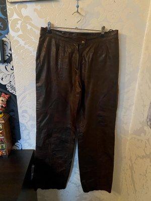 Tuzzi Pantalón de cuero marrón-marrón oscuro Cuero