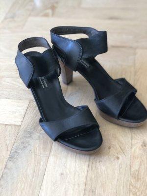 Paul Green Plateauzool sandalen zwart