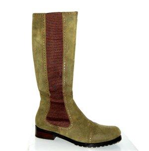 Bruno Premi Stretch Boots green grey leather