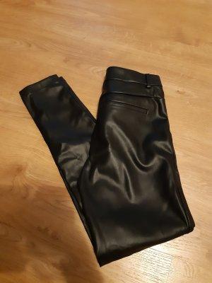 Primark Pantalón de cuero negro