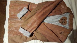 tolle Lederjacke von Please in Vintage, Größe 36/38, Echtleder