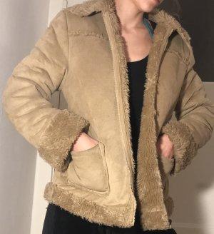Vintage Fake Fur Jacket beige-camel