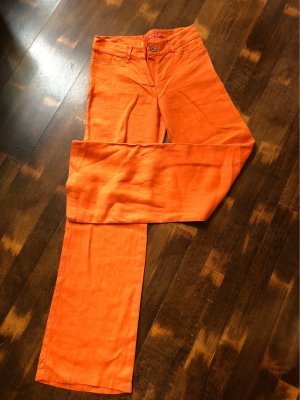 Pantalone di lino arancione