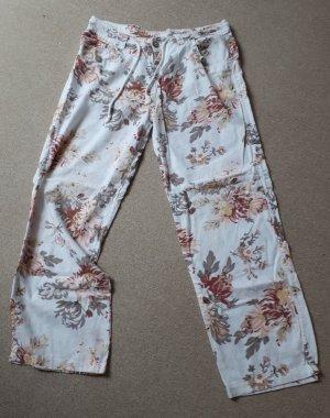 Lniane spodnie Wielokolorowy