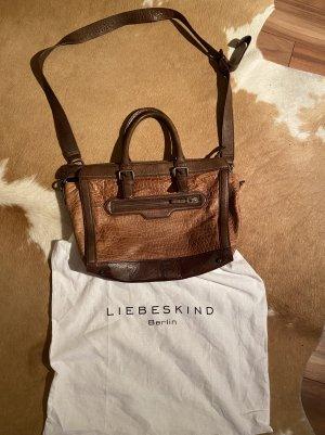 Tolle Liebekind Berlin Tasche Umhängetasche Handtasche braun Leder Schlangenoptik neuwertiger Zustand