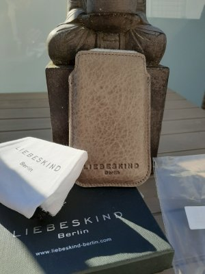 Liebeskind Berlin Mobile Phone Case grey brown leather