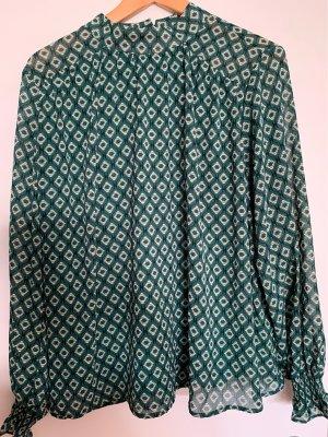 Tolle lockere Bluse mit Stehkragen